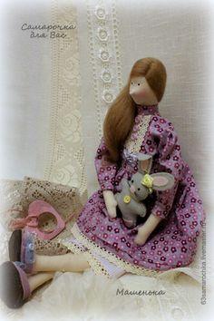 Купить Тильда. Машенька. - фиолетовый, тильда кукла, тильда, кукла ручной работы, кукла интерьерная