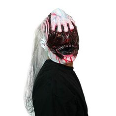 AFfeco Horrible Ghost Head Mask Natural Latex Vampire Head Cover for Halloween Kit #Vampire #Halloween #Costumes