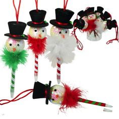 Check this out on our store  Adorable Christmas Snowmen Pen With Sequined Face Check it out here! [product-url