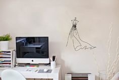 Wall Vinyl Sticker Decal Art Design Wedding Dress on a Hanger on Vintage Room Cafe Nice Picture Decor Hall Wall Chu806 Thumbs up decals http://www.amazon.com/dp/B00JAEI84W/ref=cm_sw_r_pi_dp_.ts2tb0WQMAZTKNS
