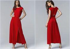 Robe Rouge Longue Sexy  Fendue 34 36 38 40 42 Nife Neuf
