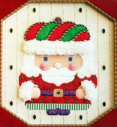 HP Needlepoint 18ct Beau Geste Jeweled Santa Scrunchie Guide Partcompltd AW15   eBay