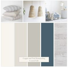 Farrow and Ball's Stiffkey Blue and some of their Easy Neutrals make up this Coastal look. A simple palette of greys, blue and bleached white create a relaxed, holiday feel. Bedroom Colour Palette, Bedroom Color Schemes, Bedroom Colors, Blue Bedroom, Neutral Colour Palette, Interior Color Schemes, Blue Color Schemes, Gray Interior, House Color Palettes