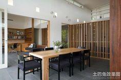 餐厅实木餐桌装修效果图大全2013图片