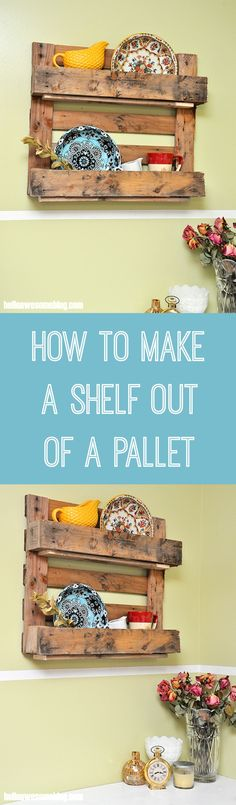Have you ever seen a stranded pallet by the side of the road? Don't pass it by - turn it into a unique pallet shelf with this easy tutorial!