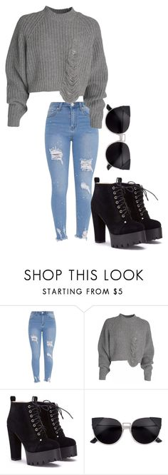 """""""-"""" by worstbiebehavior ❤ liked on Polyvore featuring 2017 and cropsweater"""