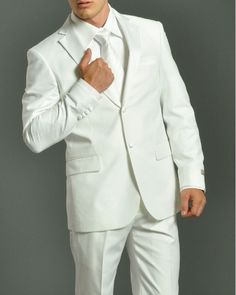 Mens White Wedding Suits