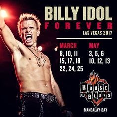New Billy Idol album 'Kings & Queens of the Underground' available now! And in 'Dancing With Myself', his long-awaited bestselling autobiography, Billy Idol delivers an electric, searingly honest account of his journey to fame. Get the latest tour dates! Billy Idol Tour, Billy Idol Albums, Billy Idol Rebel Yell, Las Vegas 2017, Las Vegas Shows, Concert Tickets, Buy Tickets, Steve Stevens, Mandalay Bay Resort