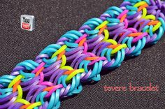 another old design of mine, hope you like it. please tag and hashtag your renditions thank you for watching. Rainbow Loom Tutorials, Rainbow Loom Patterns, Rainbow Loom Creations, Rainbow Loom Bands, Rainbow Loom Charms, Rainbow Loom Bracelets, Rubber Band Charms, Rubber Band Bracelet, Rubber Bands