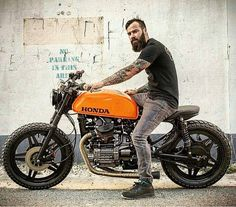 Repost from @55collection Orange power!! Owner: @woodgates_motorcycles