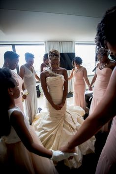 Three-stranded cords are not easily broken. Love this covering before her first forever vow.