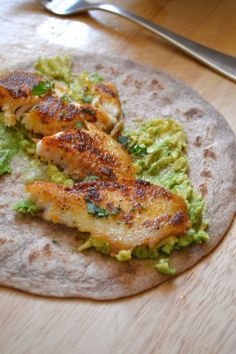 Blackened Tilapia Tacos- delicious. Must try again with shrimp instead of tilapia.