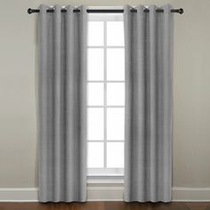 Grand Luxe Grey All Linen Gotham Grommet Window Panel - Overstock™ Shopping - Great Deals on Grand Luxe Curtains