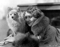 : Madge bellamy with a cute dog