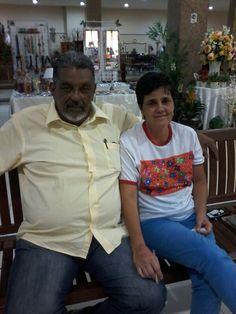 Chico Salles e Celinha participando da FEARC com seus trabalhos maravilhosos!