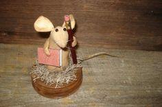 Primitive folk art handmade mouse doll rusty by BilliesPrimitives, $24.99