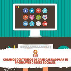 Creación de contenidos de gran calidad para que marques tendencia en internet. #EMD #MarketingDigital #Contenidos