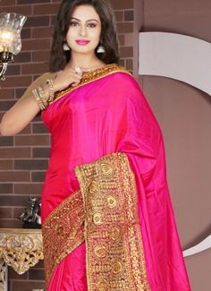 Superb Hot Pink Resham Work Tissue Designer Saree #indian #saree #trendy #red #bridal#bollewood #party wear #traditional#online #mangosurat#style #boutiques #shopping #fashion #modal #social #branding #sales #marketing #business #discount #deal #success #ethnic #creation #embroidery #classic #cloth #clothing #bridal wear#jardoshi #work #chiffon #acteress #navel #desi #new #woman fashion #designersuit #bridal