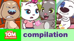 Talking Tom and Friends Minis - Episodes Binge Compilation xo, Talking Angela You Are Cute, I Cant Even, Episode 5, Minis, Pikachu, Toms, Family Guy, Friends, Videos