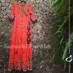 And one of our most loved designs in fiery red color! Handcrafted with pearls and sequins, this is one is true beauty SEND US A DIRECT MESSAGE FOR ENQUIRIES #newcollection #colorful #instalike #instadaily #fashion #floral #gorgeous #love #indianwear #weddingclothes #indianwedding #handcrafted #handmadewithlove #bridetobe #ethnic #bollywoodstyle #ootd #todaysoutfit #bestoftheday #picoftheday #fashiondiaries #beautiful #amazing #look #dress #indiancolors #bridal #suruchiparakhcouture