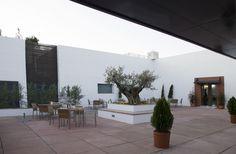 Exterior de la terraza del hotel Mirador de Montoro (Córdoba)