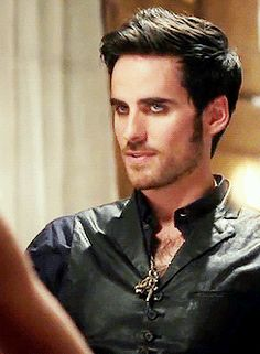 Killian Jones | Date Night | 4x4 (gif) | Oh, those eyes!