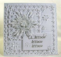 snowflakes card by Kittiekraft typepad