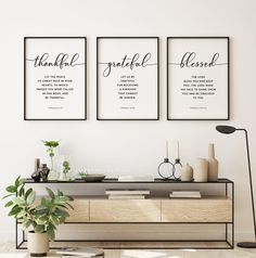 Thankful Grateful Blessed Bible Verse Printable Wall Art | Etsy Bible Verse Signs, Bible Verses About Love, Bible Verse Wall Art, Printable Bible Verses, Printable Wall Art, Christian Wall Decor, Christian Posters, Faith Hope Love, Love Your Neighbour