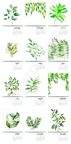 DESK CALENDAR, BOTANICAL calendar. So pretty!!!