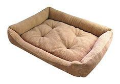 Christmas Freerun Washable Dog Cat Pet Warm Basket Bed Cushion with Fleece Lining Rectangle Pet Bed Fit Most Pets L -- Visit the image link more details.