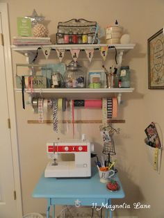 a small table to have the sewing machine on so I can leave it out.