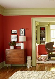 "Benjamin Moore's    ""Claret Rose"" , Ruth Burts Interiors: Red Rooms: Warm Reds"