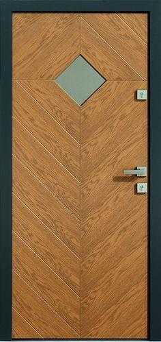 Dębowe wejściowe drzwi zewnętrzne 543,7 winchester + antracyt