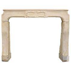 French Louis XIV Style Limestone Fireplace, 18th Century