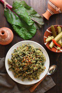 Swiss Chard Rice Pilaf | Lands & Flavors