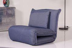 Kasper-Wohndesign Relax Schlafsessel Billy Stoff Denim verschiedene Größen »KAWOLA«