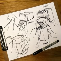 Practicing hands to show scale and usability.  #hands #usability #storyboard #illustrate #sketch #sketchbook #sketching #sketchaday #productdesign #packaging #industrialdesign #functionality #ideation