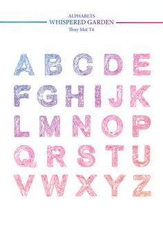 Whispered Garden Alphabets - ThuyMattit by Thuy Mat tit, via Behance