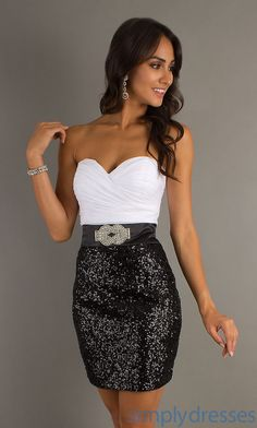 Short Strapless love!!! Maybe cute bachelorette, or wedding rehearsal dress