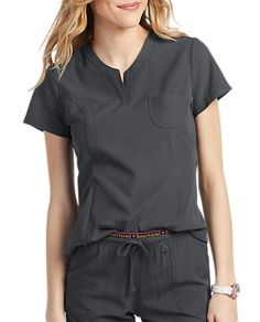 The HeartSoul Roxy Henley V-Neck Scrub Top is made with stretch fabric and roomy pockets. Shop for yours at Scrubs & Beyond. Cheap Scrubs, Cute Scrubs, Scrubs Outfit, Scrubs Uniform, Scrub Skirts, Doctor Scrubs, Stylish Scrubs, Scrub Tops, V Neck Tops