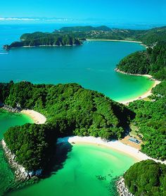 Abel Tasman National Park is located at the north end of the South Island. It is named after Abel Tasman, who in 1642 became the first European explorer to sight New Zealand and who anchored nearby in Golden Bay Places Around The World, Oh The Places You'll Go, Places To Travel, Travel Destinations, Places To Visit, Around The Worlds, Travel Deals, Amazing Destinations, Dream Vacations