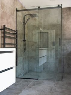 Haynes sliding shower systems Available in polished chrome or satin black Bath Screens, Shower Installation, Frameless Shower, Shower Systems, Glass Shower, Sliding Doors, Polished Chrome, Showers, Bathrooms