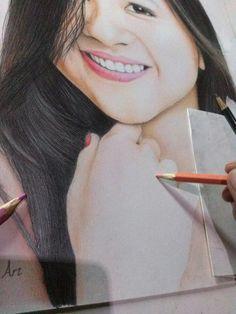 Progress lukisan pensil...
