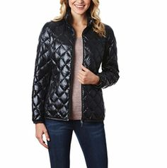 32 Degrees Packable Ultra Light Down Jacket for Women (XS, Black Shine Wet) Lightweight Packable bag included Front YKK zip with closure Two front pockets with YKK zip closure 650 fill power Coats For Women, Jackets For Women, Clothes For Women, Packable Jacket, Lightweight Jacket, Quilted Jacket, Vest Jacket, Ideias Fashion, Womens Fashion