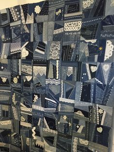 Denim and Lace Crazy Quilt I entered this at the Eastern Idaho State Fair.