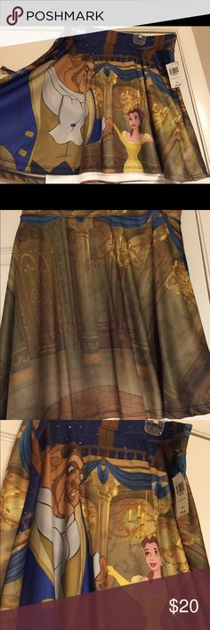 Disney Beauty and the Beast Circle Skirt This is a Disney Beauty and the Beast Circle skirt. Tags still on it. Never worn. Purchased at Hot Topic. Size XXL. Disney Skirts Circle & Skater