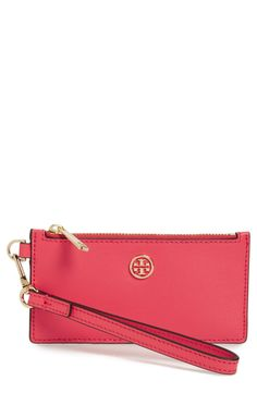 New Tory Burch Parker Leather Card Case fashion online. [$95]?@shop.seehandbags<<