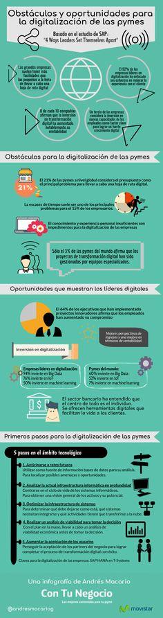 La digitalización de las pymes: Obstáculos y oportunidades #infografía