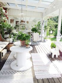 "While some may call these DIY tables, ""spool tables"" they are not true spool furniture. Garden Room, Spool Furniture, Outdoor Decor, Outdoor Rooms, Winter Garden, Garden Design, Decks And Porches, Exterior"