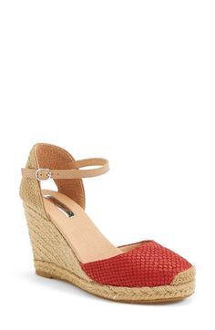 d039310596cc7a Halogen®  Sandra  Wedge Espadrille (Women) available at  Nordstrom Leather  Espadrilles